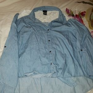 Denim chambray shirt 3xl